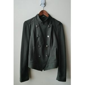 Army Green Double Breasted Military Jacket